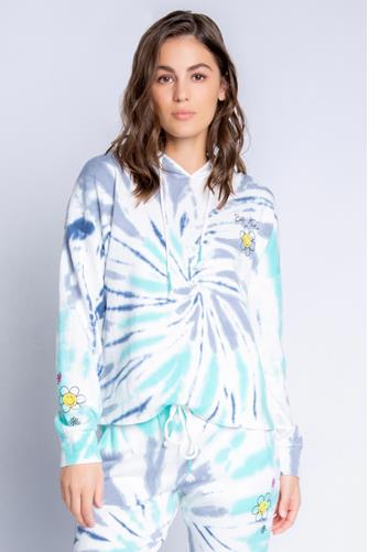 Tie Dye Be Kind Hoodie BLUE MULTI -