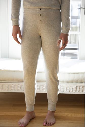 Textured Heather Grey Lounge Jogger GREY