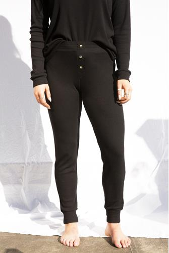 Textured Black Lounge Jogger BLACK