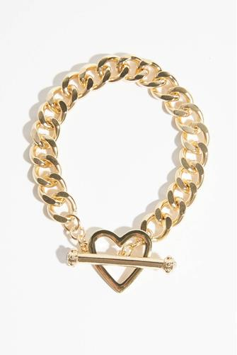 Gold Chain Heart Bracelet GOLD