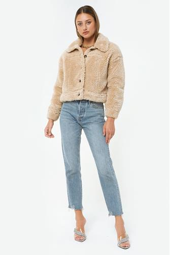 Jillian Sherpa Trucker Jacket CREAM