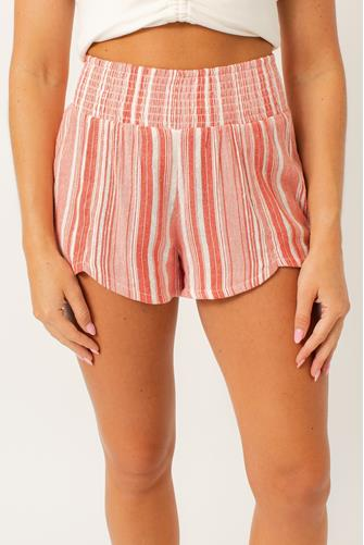 Cool Down Striped Short RED MULTI -