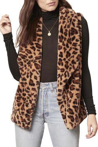 Purr Crazy Leopard Vest BROWN
