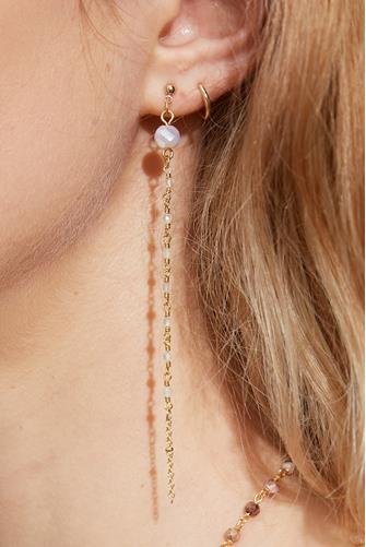 Multi Stone Linear Earrings LITE PINK