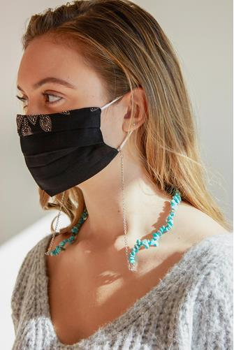 Turquoise Bead Mask Chain TURQUOISE