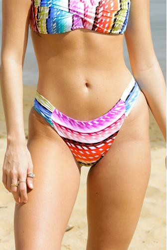 Prismatic Tab Hipster Bikini Bottom MULTI