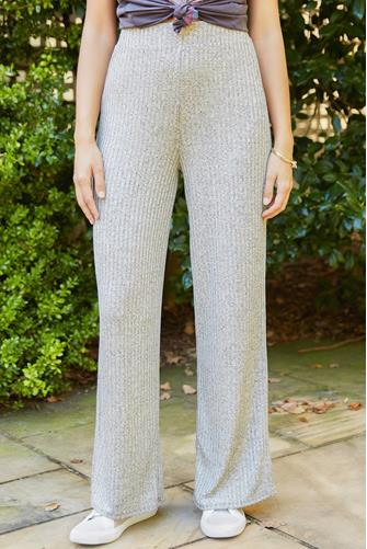 Knit Sparkle Wide Leg Pant GOLD