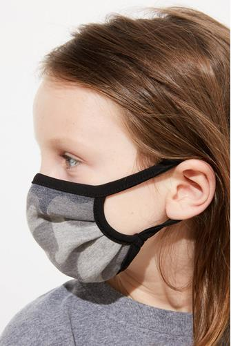 Kids Grey Camo Face Mask CAMO