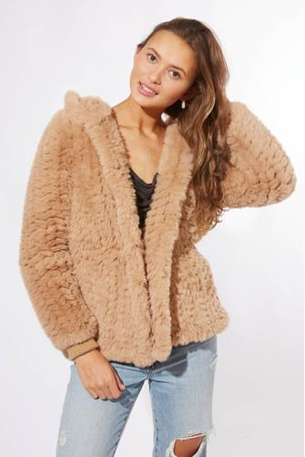 Zuri Faux Fur Coat CAMEL