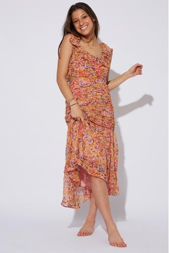 Devereaux Cut Out Pink Floral Dress PINK MULTI -