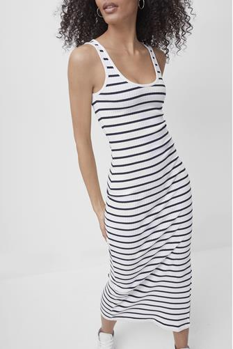 Tommy Rib Stripe Tank Dress WHITE MULTI -