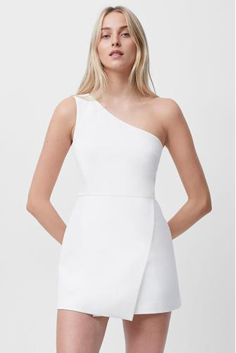 Whisper One Shoulder Dress WHITE