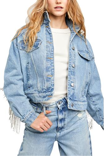 Comet Denim Bomber Jacket LIGHT DENIM -