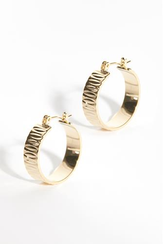 Shimmer Gold Hoop Earrings GOLD