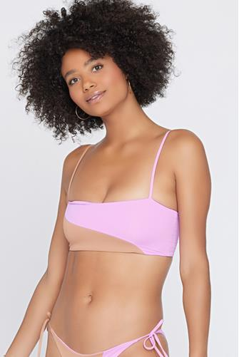 Rosebud & Putty Color Block Ari Bikini Top MULTI