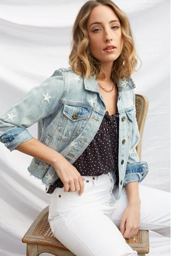Star Light Denim Jacket LIGHT DENIM -