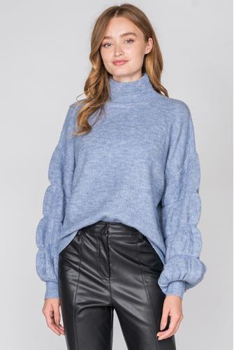 Sleeve Detail Oversized Sweater BLUE