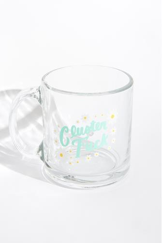 Cluster F**k Glass Mug CLEAR