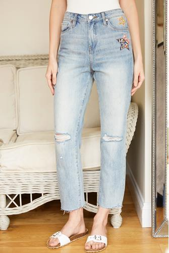 Madison Straight Leg Crop Jean in Perfect Places LIGHT DENIM -