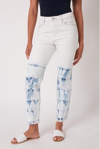 Madison Hi Rise Bleach Crop Jean in Manic Monday WHITE