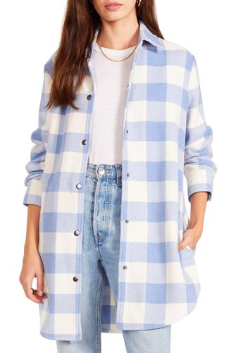 Eldridge Blue Plaid Shirt Jacket BLUE