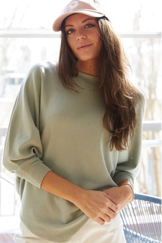 Boatneck Batwing Sweater SAGE
