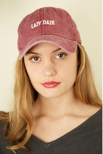Lazy Daze Hat BURGUNDY