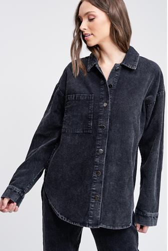 Corduroy Shirt BLACK