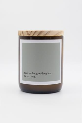 Smiles, Laughter, Love Heartfelt Quote Hudson Valley Candle 8.8 oz. GREEN