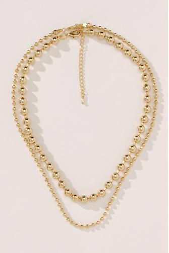 Golden Hour Layered Beaded Necklace GOLD