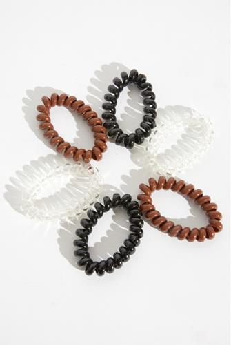 Coil Jelly Hair Tie Six Pack MULTI