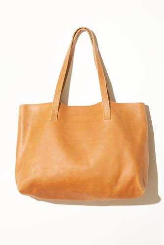 Tan Leather Carry All Tote Bag TAN