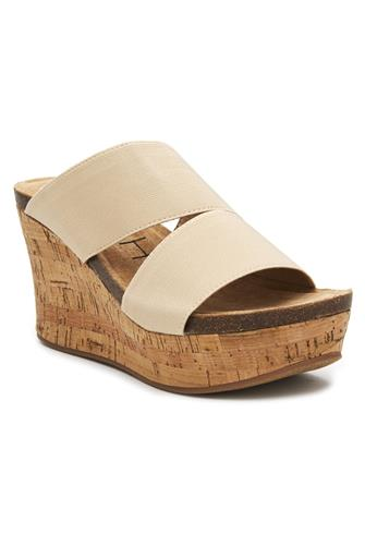 Bare All Cork Wedge Sandal NATURAL