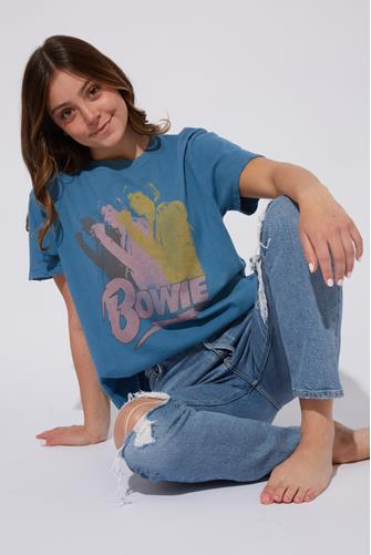 Bowie Graphic Tee BLUE
