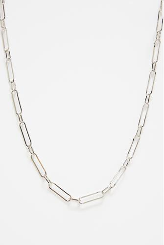 Silver Linear Link Necklace SILVER