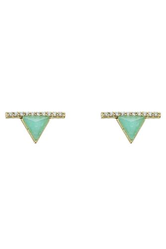 Mint Mini Triangle Bar Stud Earrings MINT GREEN