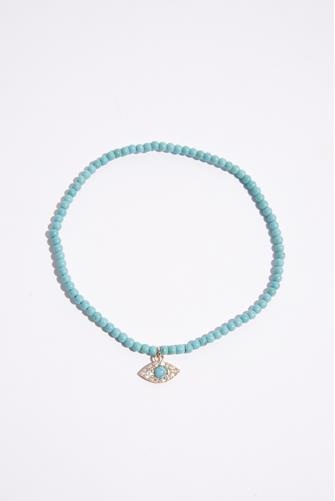 Evil Eye Turquoise Anklet TURQUOISE