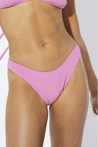 Bloom Solid Rib Hipster Bikini Bottom PINK