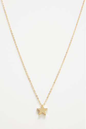 Gold Simple Star Necklace GOLD