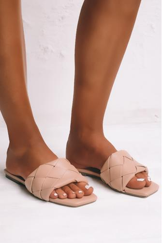 Felix Braid Slide Sandal NUDE