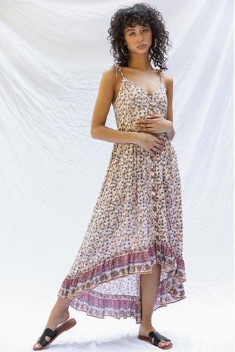 Hi-Lo Maxi Dress MULTI