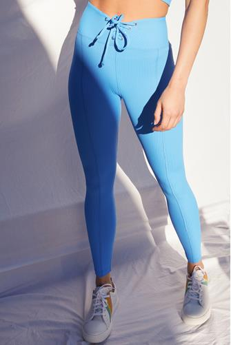 Club Blue Ribbed Football Leggings BLUE