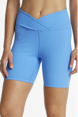 Club Blue V Waist Ribbed Biker Short BLUE