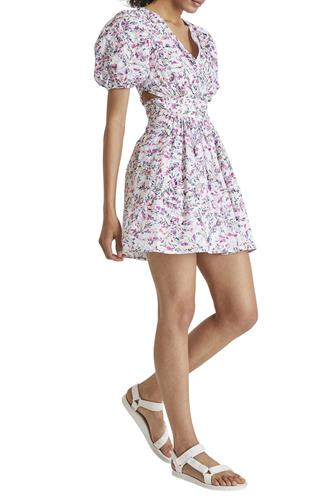 Flores Cotton V-Neck Dress MULTI