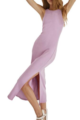 Rasha Ribbed Jersey Dress LAVENDER