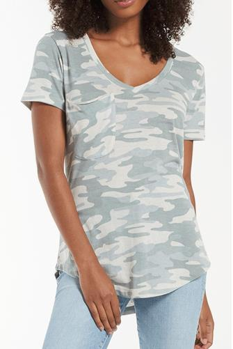 Dusty Sage Camo Pocket Tee CAMO