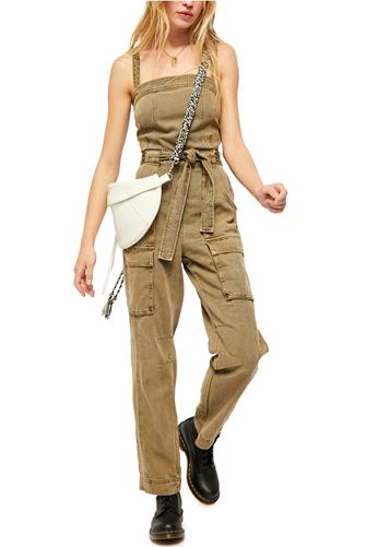 Go West Utility Jumpsuit OLIVE