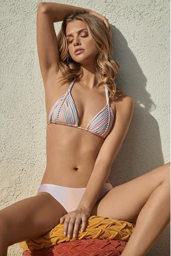 Golden Hour Tie Dye Isla Sliding Triangle Bikini Top MULTI