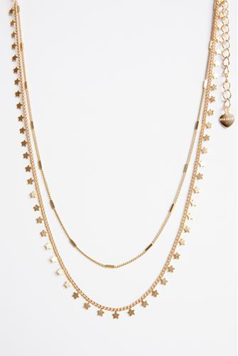 Double Strand Star Necklace GOLD