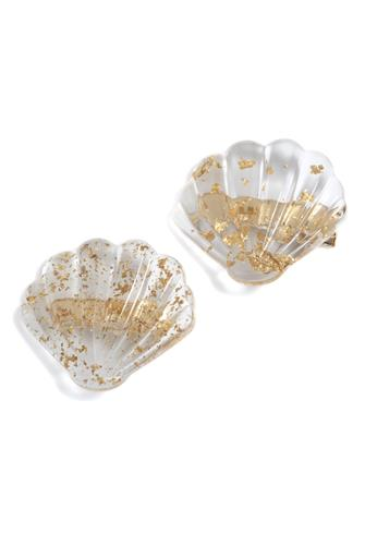 Clear Shell Hair Clip Two Pack CLEAR